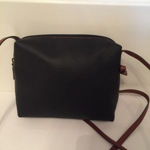 BOTTEGA VENETA BAG CROSSBODY BLACK LEATHER BROWN